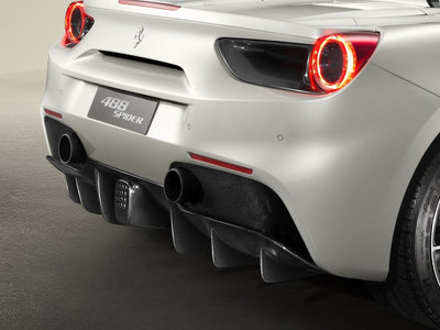 Ferrari Genuine Carbon Fiber Rear Diffuser