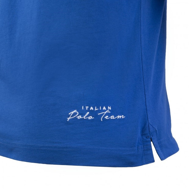 Maserati La Martina Palm Beach Blue Polo Shirt