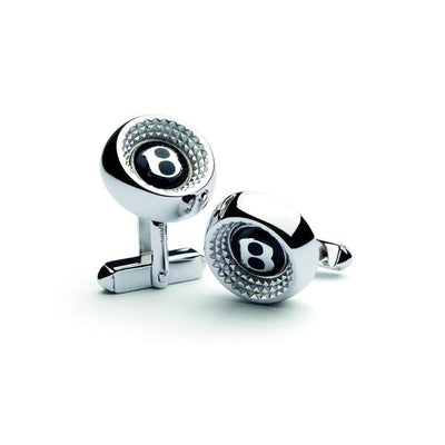 Bentley Sterling Silver Knurling Cufflinks