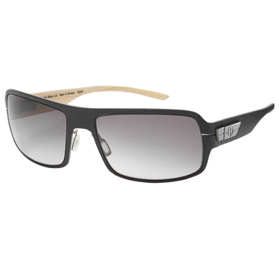 Bentley Wood Veneer Sunglasses, Dark Tint