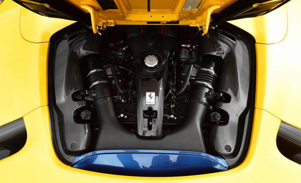 Ferrari 488 Carbon Fiber Engine Compartment Shields
