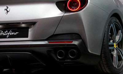 Ferrari Portofino Tailpipe Tips with Ceramic Coating (Black)