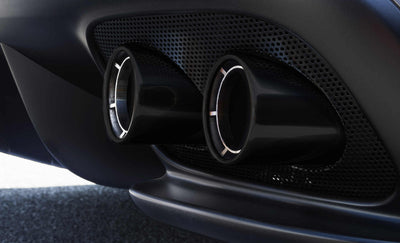 Ferrari GTC4LUSSO Tailpipe Tips with Ceramic Coating (Black)