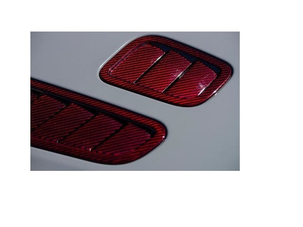 Aston Martin Red Carbon Fiber Hood Louver Kit