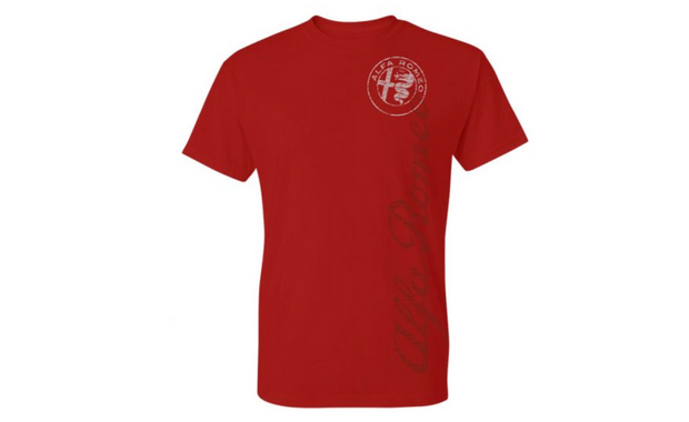 Alfa Romeo Men's Vertical Print T-Shirt