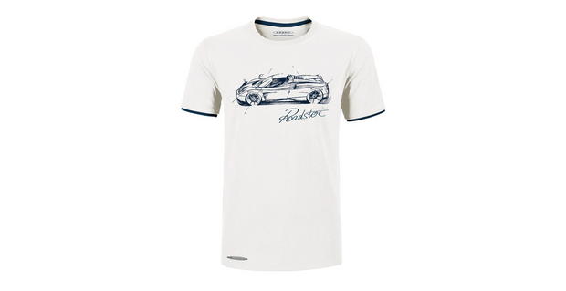 """Huayra Roadster"" T-Shirt with White Man print"