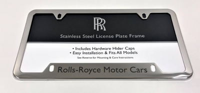 Rolls-Royce Polished Stainless Steel Semi-Wide Bottom Plate Frame