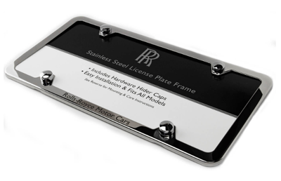 Rolls-Royce Polished Stainless Steel Slim-Line Plate Frame