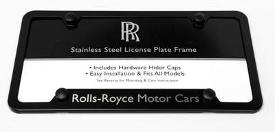 Black Powder-Coated Stainless Steel Semi-Wide Bottom Plate Frame