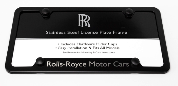 Rolls-Royce Black Powder-Coated Stainless Steel Semi-Wide Bottom Plate Frame