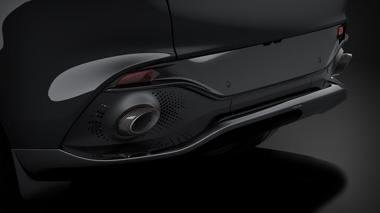 DBX Polished Carbon Fiber Tailpipe Finishers