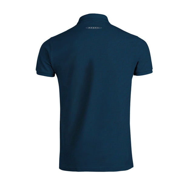 """Huayra Roadster"" Men's Blue Polo Shirt Texture"