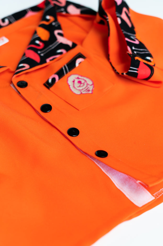 Orange Polo Shirt - for Dogs