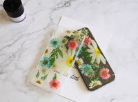 Lovely pressed real flora flower iPhone case