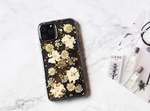 Pretty hand pressed real flora iPhone case iPhone 11 case