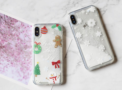 Celebrating Christmas Snow man Christmas tree Ginger man ... iPhone case