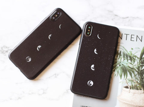 Marvelous eclipse pattern silicone iPhone case