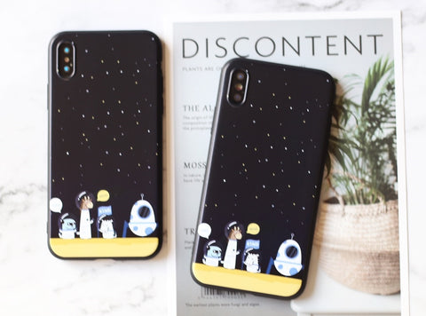 Cartoon astronauts Silicone iPhone case