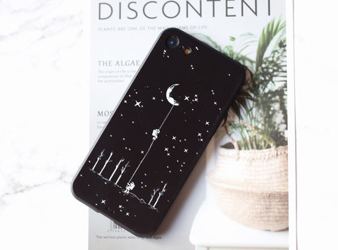 Cute cartoon space astronaut relief pattern iPhone case