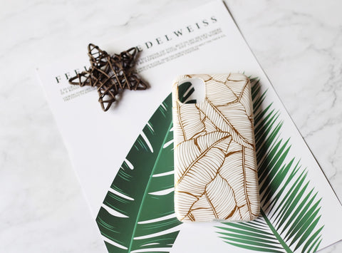 casealpha - Gorgeous golden leaves sketch iPhone case iPhone 11 case - CaseAlpha - Phone Case / Silicone