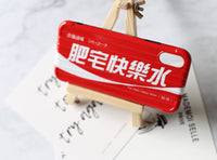 Unique 'Fat Otaku Happy Water' (Coke/Coca) silicone iPhone Case