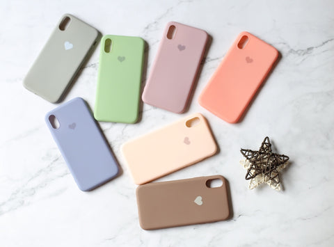 casealpha - Lovely heart pattern Candy colors Silicone iPhone case - CaseAlpha - Phone Case / Silicone