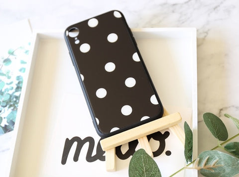 casealpha - iPhone case Classic polka dots Tempered glass Phone case - CaseAlpha - Phone Case / Tempered Glass