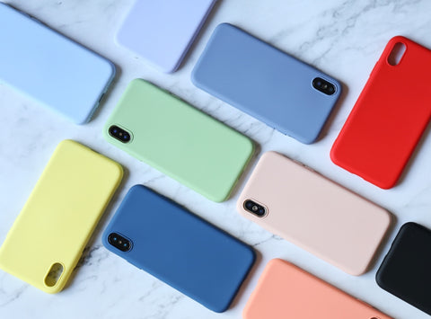 Lovely appearance Solid color Original silicone iPhone case