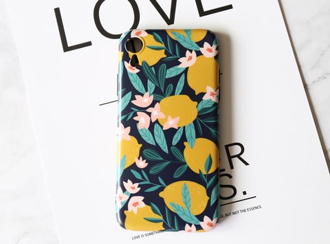 casealpha - iPhone case Vibrant lemon fruit Phone case - CaseAlpha - Phone Case / Silicone