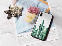 Fresh cactus bunch relief pattern iPhone case