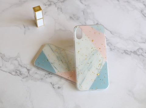 casealpha - Handcraft lovely color puzzle marble pattern silicone iPhone Case - CaseAlpha - Phone Case / Silicone