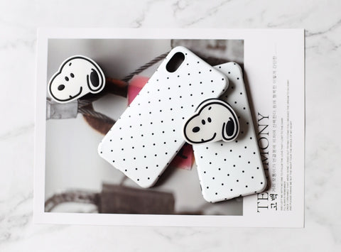 casealpha - Adorable snoopy polka dots iPhone case with GRIP - CaseAlpha - Phone Case / Silicone