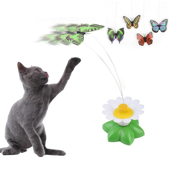 Flying Butterfly Cat Toy