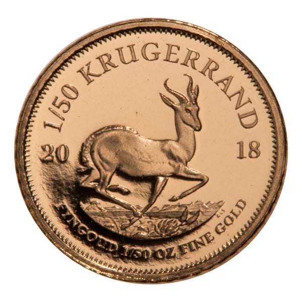 2018 South Africa 1/50 oz Gold Krugerrand Proof 0.02 Coin GEM Proof