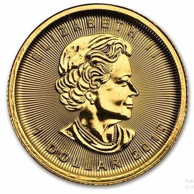 Gold Canadian Maple Leaf 1/20- oz