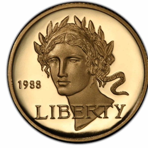 Gold Modern Commemorative $5 BU/PF