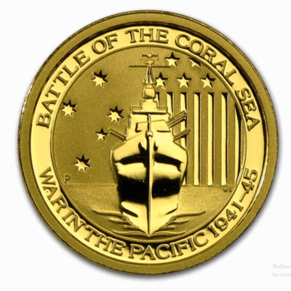 Gold Australian Battle Coral Sea 1/10- oz