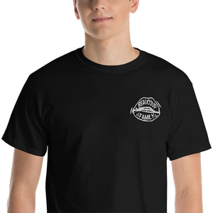 Embroidered Beaucoup Family Black Tee