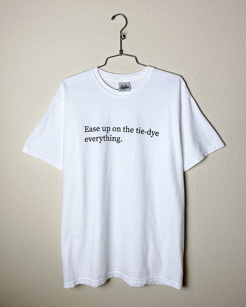 Ease Up Tee - White