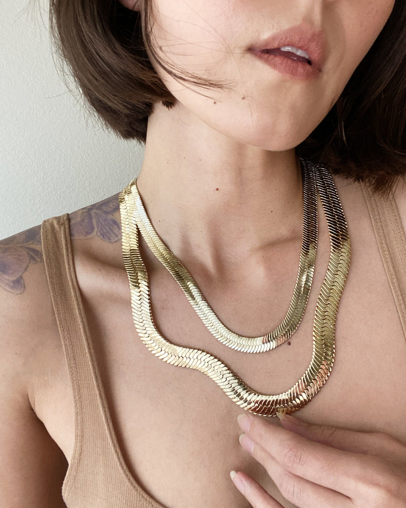 "HARRIET 20"" Herringbone Necklace"