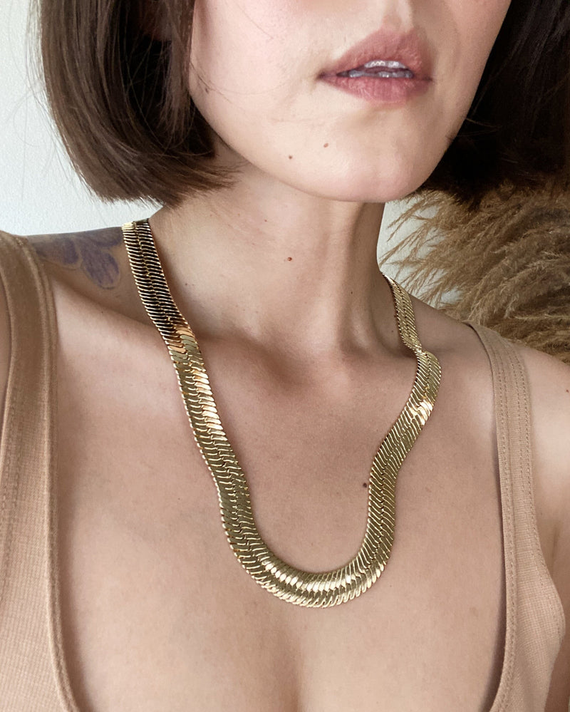 "HARRIET 24"" Herringbone Necklace"