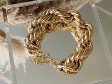Load image into Gallery viewer, Vintage Oversized Rope Chain Bracelet