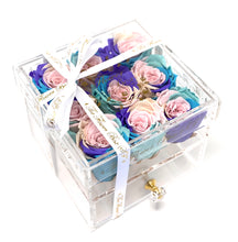 Load image into Gallery viewer, SALE Crystal Flower Box with Drawer - Gold