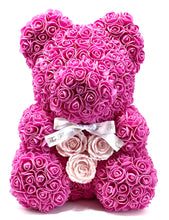 Load image into Gallery viewer, SALE Forever Flower Bear with Real Rose Heart