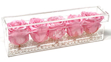 Load image into Gallery viewer, Crystal Flower Box with Pearls - 5 Roses