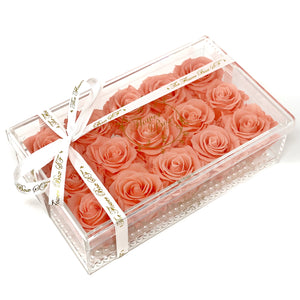 Crystal Flower Box - 18 Roses