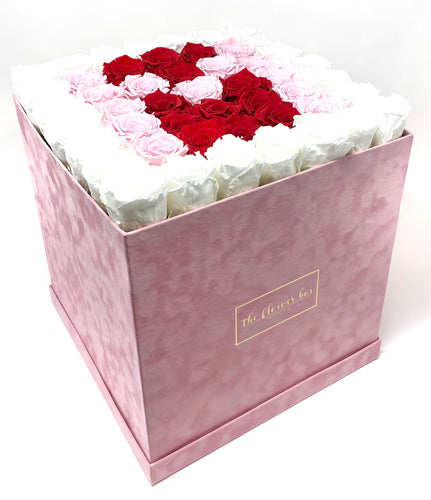 Pink Suede Flower Box