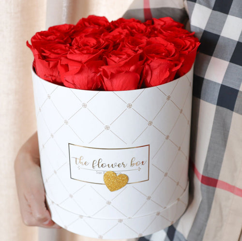 Signature Round Logo Flower Box