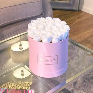 Pearl Pink Round Flower Box