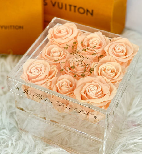 Crystal Jewelry Box with Pull out Drawer - 9 Roses
